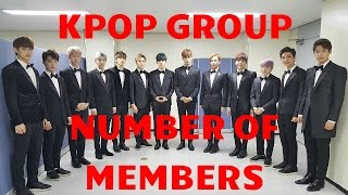 Number of Members For All Kpop Groups