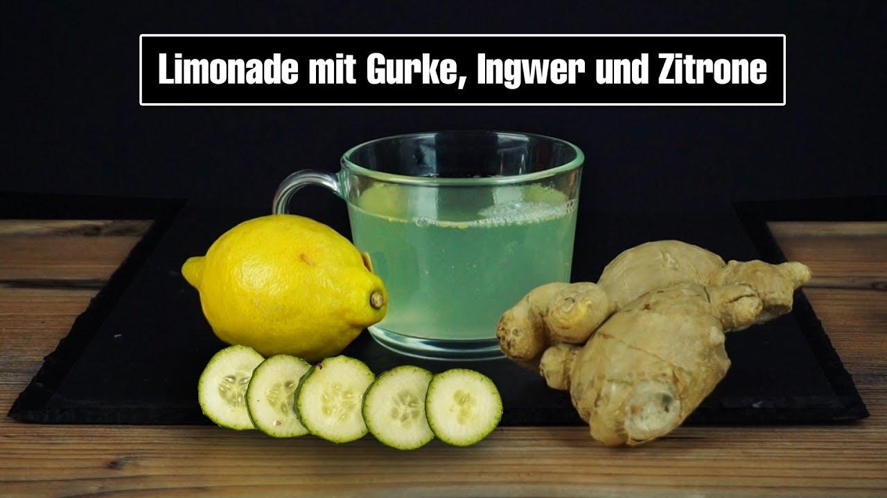 Zitronen-Gurken-Ingwer-Wasser zur Gewichtsreduktion
