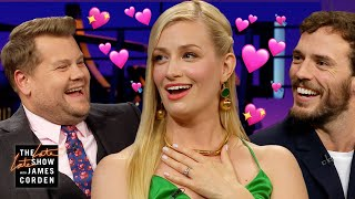 Beth Behrs' British Fantasies Come True With Sam Claflin & James Corden