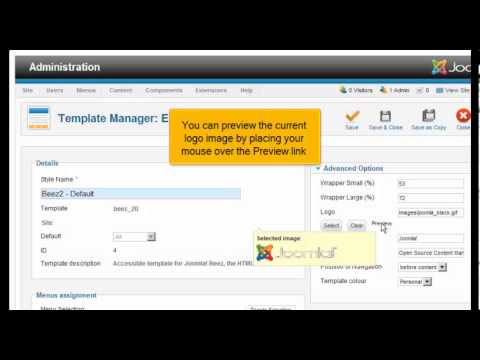 How to change the site logo in Joomla 2.5 - YouTube