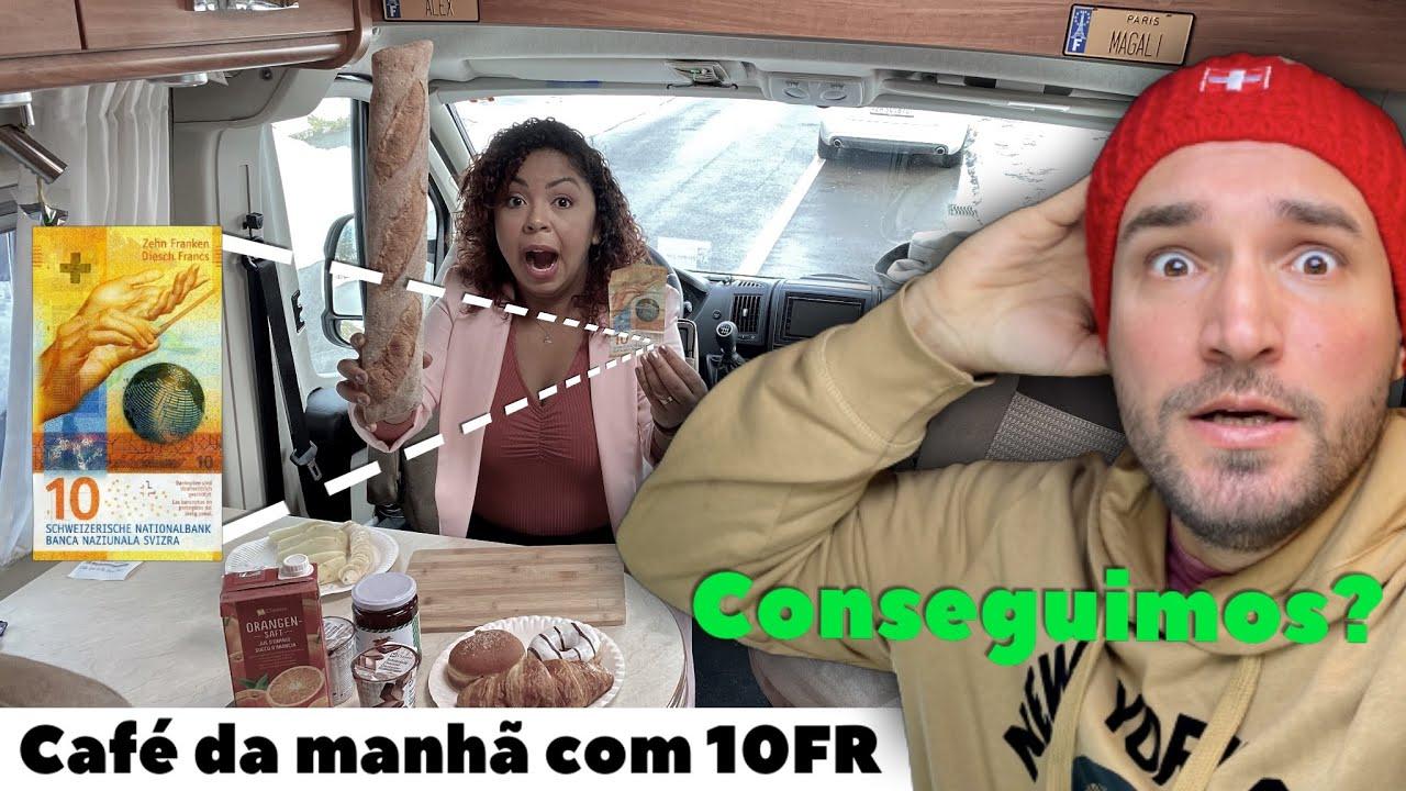 CAFÉ DA MANHÃ DE LUXO NA SUÍÇA COM 10 FRANCOS (conseguimos??????)