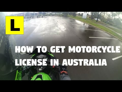 How to get L's for motorcycle/scooter license in Australia!