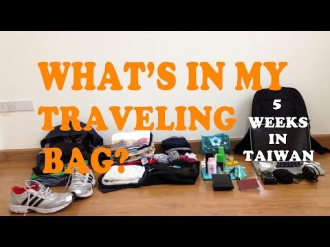 5 weeks in Taiwan: What's in my traveling bag?