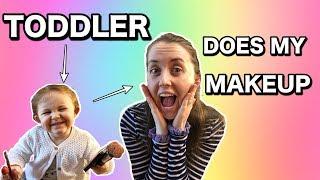 Makeup Challenge: TODDLER Does My Makeup | #toddler #parenting