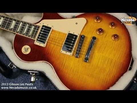 Gibson 2013 Les Paul Standard Tea Burst and Trans Amber Demo - Nevada Music UK