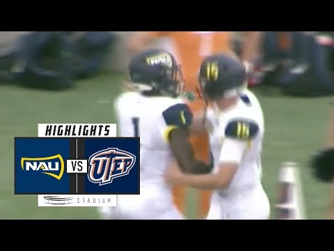 Northern Arizona vs UTEP Football Highlights (2018) | Stadium