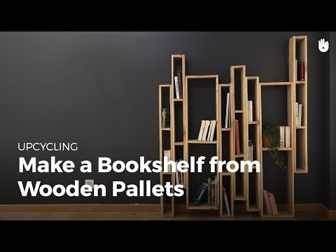 Make Bookshelf from Wooden Pallets   Upcycling