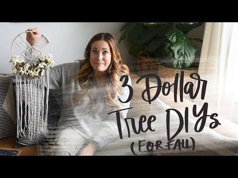 3 Dollar Tree DIY Projects Fall 2019 | Cheap Macrame Hack!