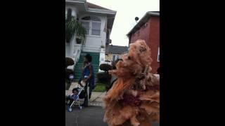 Spy Boy Christian Scott aTunde Adjuah and Gang Flag Kiel Scott on Mardi Gras Day
