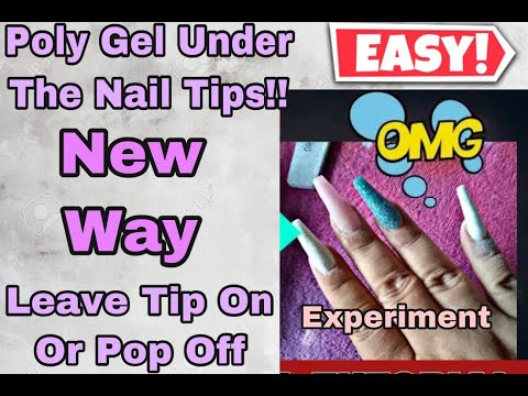 Experiment #3 Full Tutorial Using Regular Nail Tips! DUAL FORM HACK