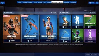 FORTNITE [ NEW SKIN: OPPRESSEOR / NEW PIOCHE: PLASMIQUE LAME ] 18-08-2019