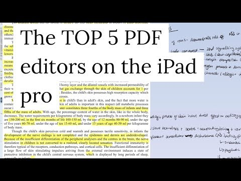 The Top 5 PDF editors for the iPad pro|Paperless productivity