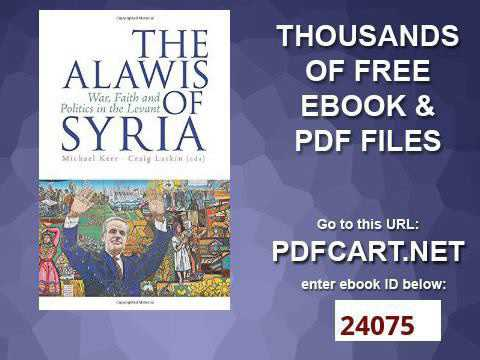The Alawis of Syria: War, Faith and Politics in the Levant (Urban Conflicts, Divided Societies)