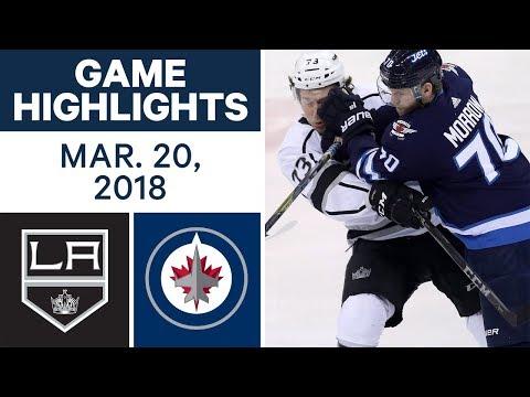 NHL Game Highlights | Kings vs. Jets - Mar. 20, 2018