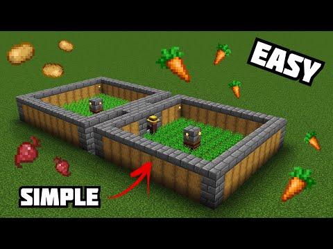 How To Make An AUTOMATIC Villager Food Farm (EASY) Minecraft 1.16+ Tutorial