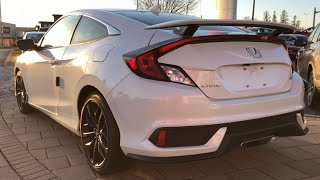 2020 Honda Civic Si Coupe Platinum White Metallic 205HP | In-Depth Visual Walk Around