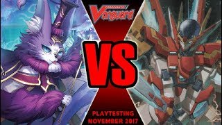 Chatnoir Vs Victor - Cardfight Vanguard Playtesting November 2017