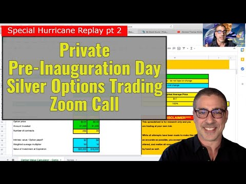 Special Replay - Private Pre-Inauguration Day Silver Options Trading Zoom Call