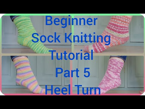 how to turn the heel on a sock