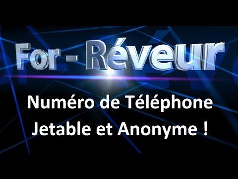 4d65fc4a2 Numéro de Téléphone Jetable et Anonyme - for-réveur - YouTube