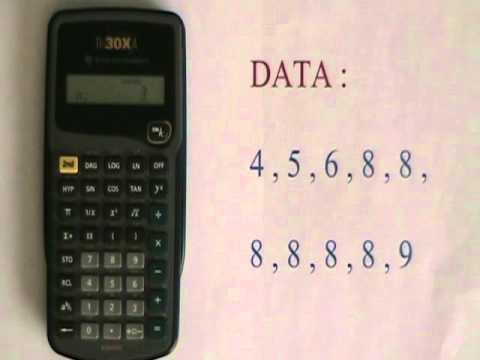 Basic Statistics Operations On The Ti 30xa Youtube