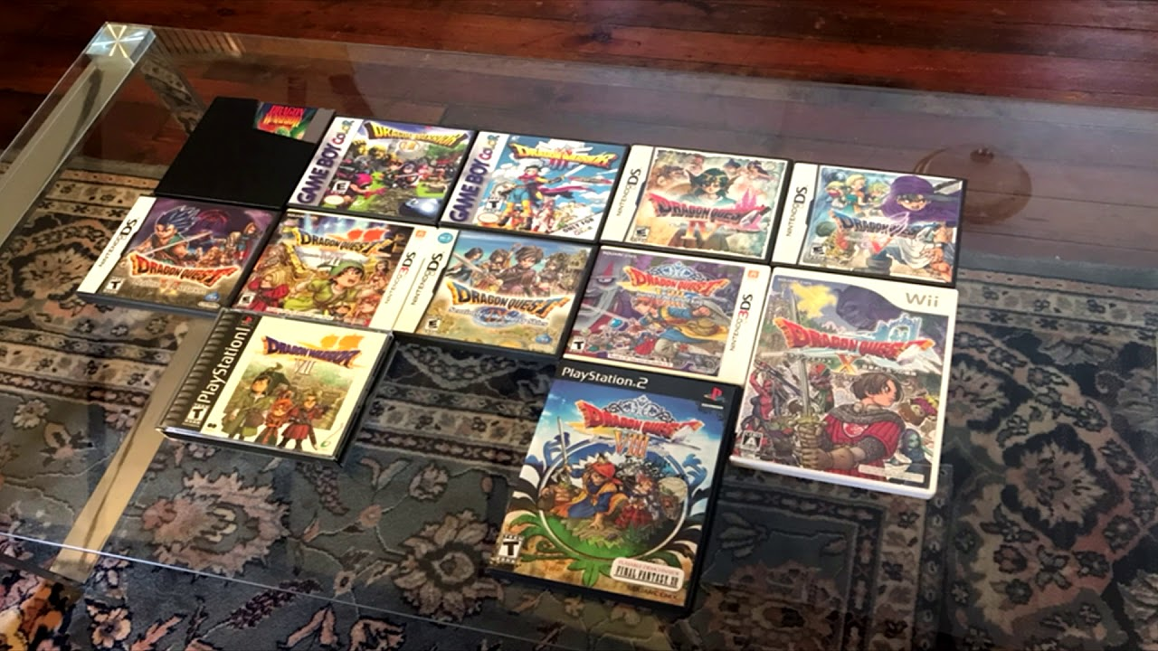 dragon quest complete collection all main titles youtube