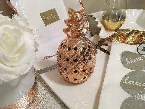 RoseGold Gold HomeGoods & TJMaxx Kitchen & Home Decor Haul