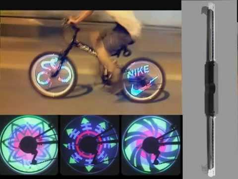 Программируемая LED подсветка колеса велосипеда 48 LEDs Light YQ8002 Посылка из Китая AliEхpress