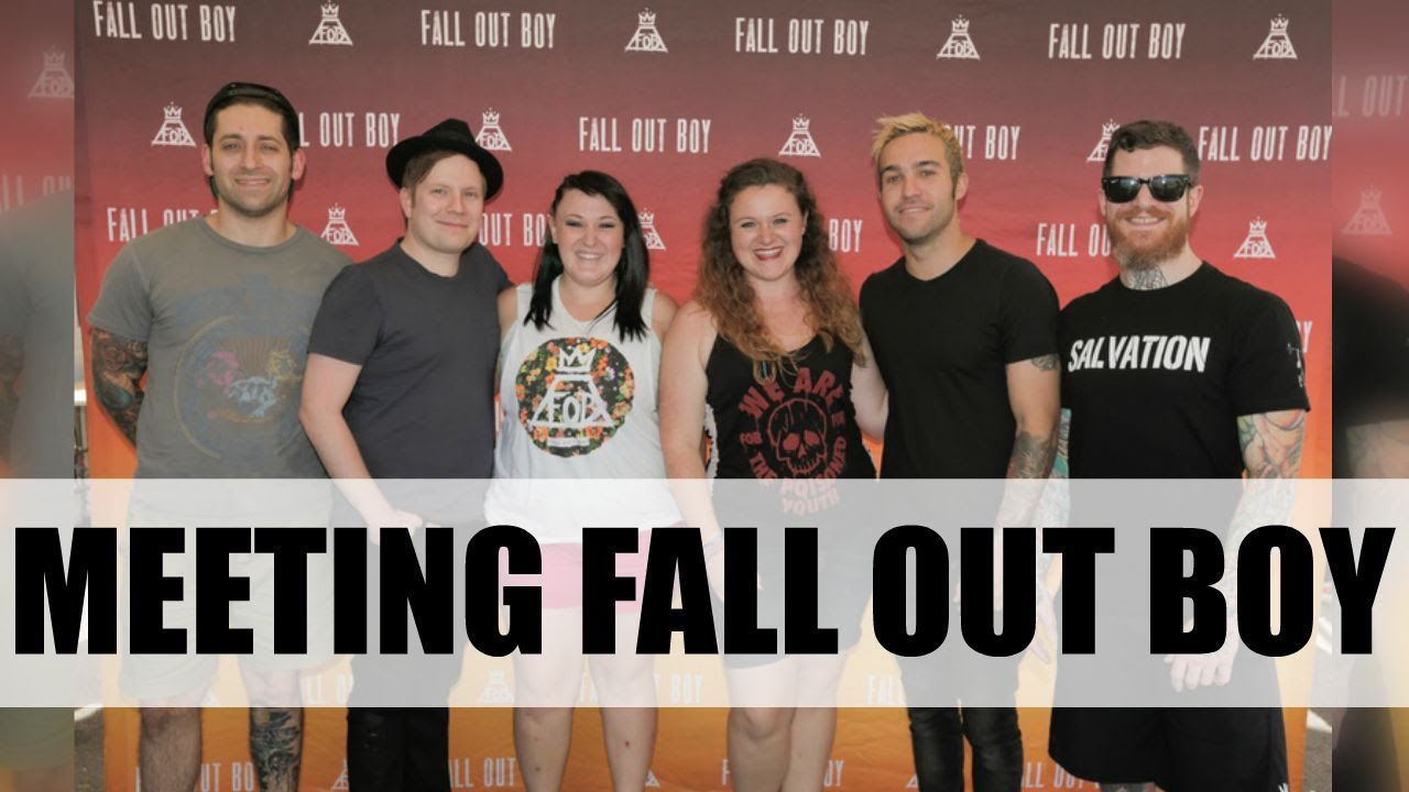 Meeting fall out boy youtube m4hsunfo Choice Image