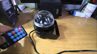bola de luz efectos cristal con mando 3w rgb led crystal ball stage effect with remote control
