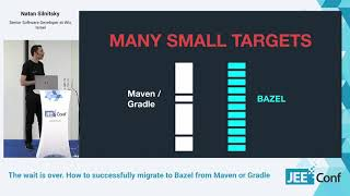 How to successfully migrate to Bazel from Maven or Gradle. (Natan Silnitsky, Israel)