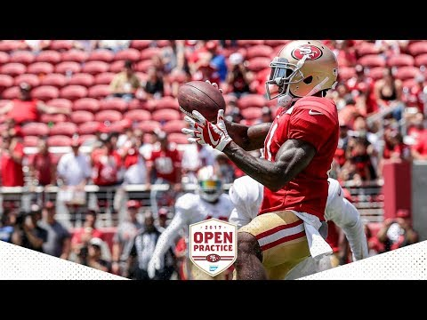 Camp Highlight: Marquise Goodwin Shines at Open Practice