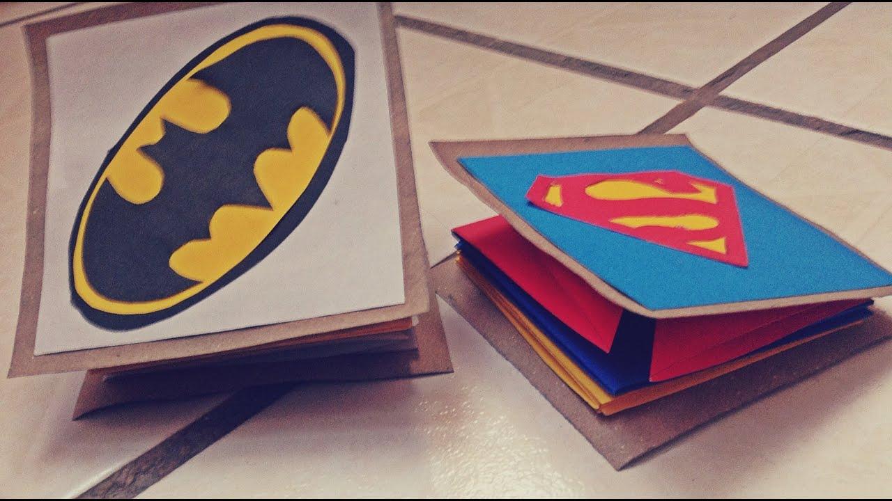 Como hacer tarjeta en forma de acorden de superheroes Tarjeta para pap