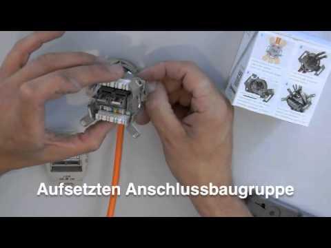 Rutenbeck Kompakt-Universal-Anschlussdose Montagevideo - YouTube
