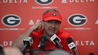 UGA coach Kirby Smart talks No  2 UGA's Sluggish win over Missouri