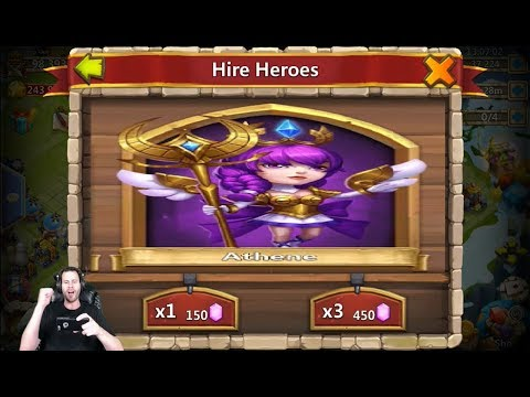 First Athene Free 2 Play Legends Everywhere Rolling 30k For Heroes Castle Clash