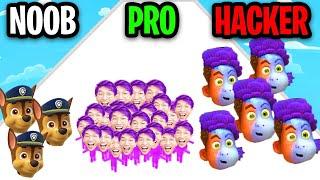 NOOB vs PRO vs HACKER In COUNT MASTERS!? (ALL LEVELS!)