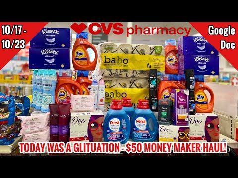 CVS Free & Cheap Coupon Deals & Haul | 10/17 – 10/23 | $340 IN PRODUCTS FOR FREE 🙌🏽 + $50 PROFIT 😳