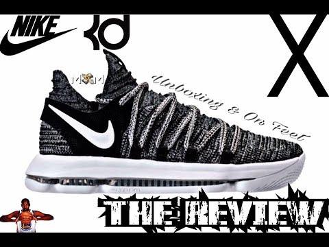 best service a06da 375de Nike KD 10 X Review   Nike KD 10 X On Feet   Nike KD 10 X Unboxing   KD 10  X Oreo Colorway