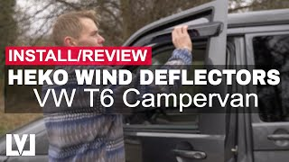 HEKO Wind Deflector Fitting/Review - VW T6 Camper