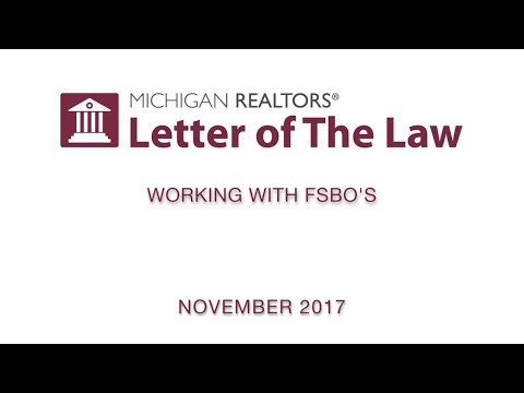 Letter of The Law: Working with FSBO's (with commercial)