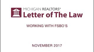 Video Letter of The Law: Working with FSBO's (with commercial) download MP3, 3GP, MP4, WEBM, AVI, FLV Desember 2017