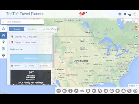 Using AAA TripTik Travel Planner - Maps And Directions