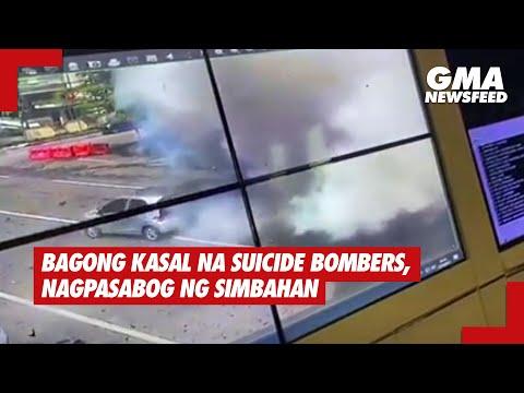 Bagong kasal na suicide bombers, nagpasabog ng simbahan  | GMA News Feed