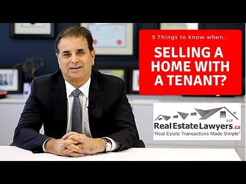 5 things to Know when selling a home occupied by a tenant