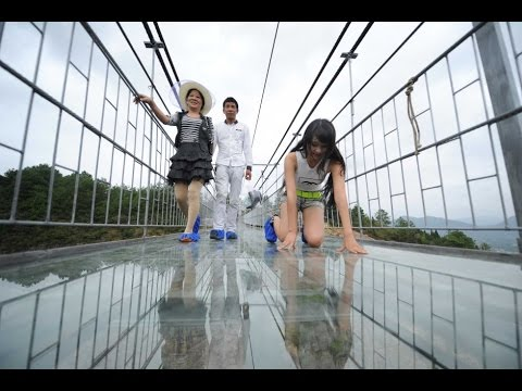 China Opens Scary Glass Bridge