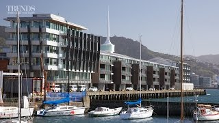 Layout of apartments in the Clyde Quay Wharf building on Wellington waterfront
