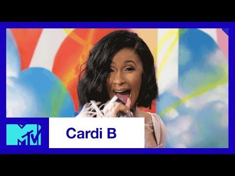 Cardi B Backstage At The 2017 VMAs   #TRL   MTV