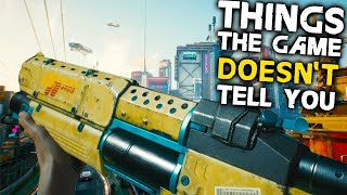 Cyberpunk 2077: 10 Things The Game DOESN'T TELL YOU