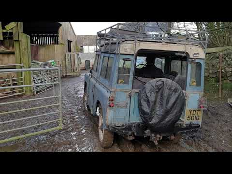 Landrover  series 1968 after not moving for 4 years part 3 .